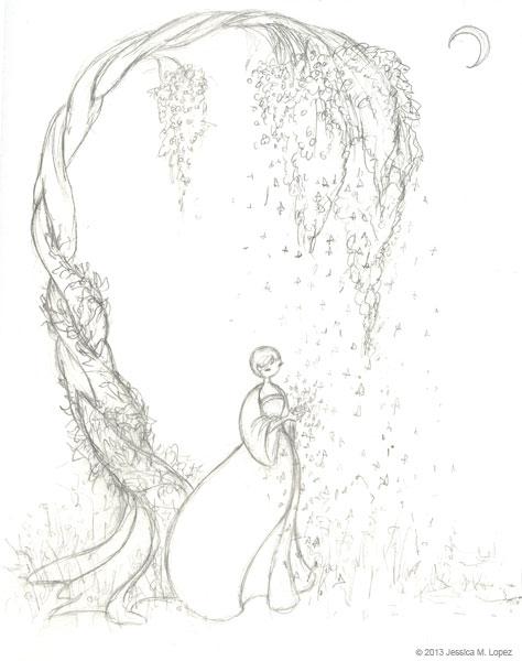 474x600 Falling Stars Wip Sketch Jessica M. Lopez