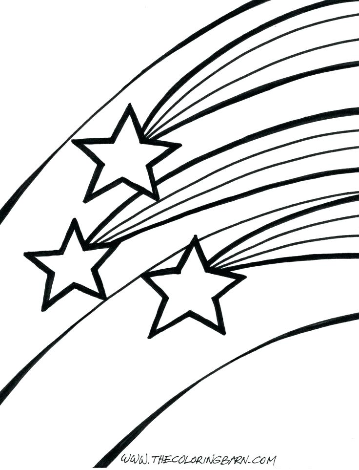 736x962 Shooting Star Coloring Page