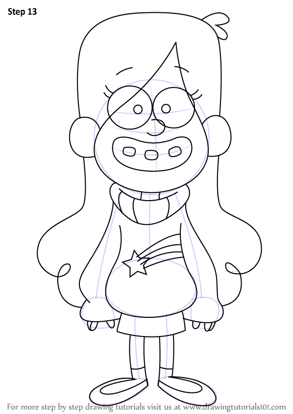 598x844 Learn How To Draw Mabel Pines From Gravity Falls (Gravity Falls