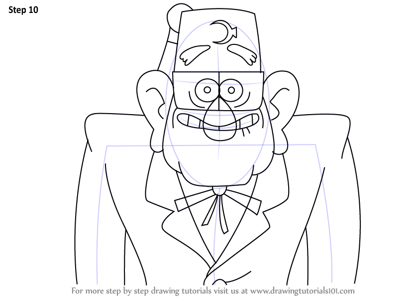 840x598 Learn How To Draw Stan Pines From Gravity Falls (Gravity Falls