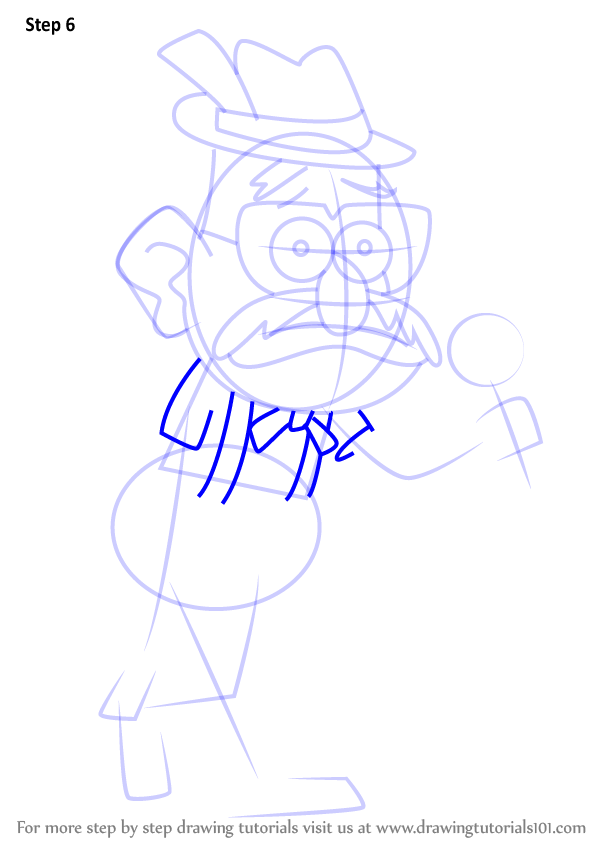 600x846 Learn How To Draw Toby Determined From Gravity Falls (Gravity
