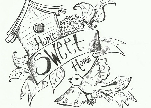 600x429 Home Sweet Home Postcard On Behance