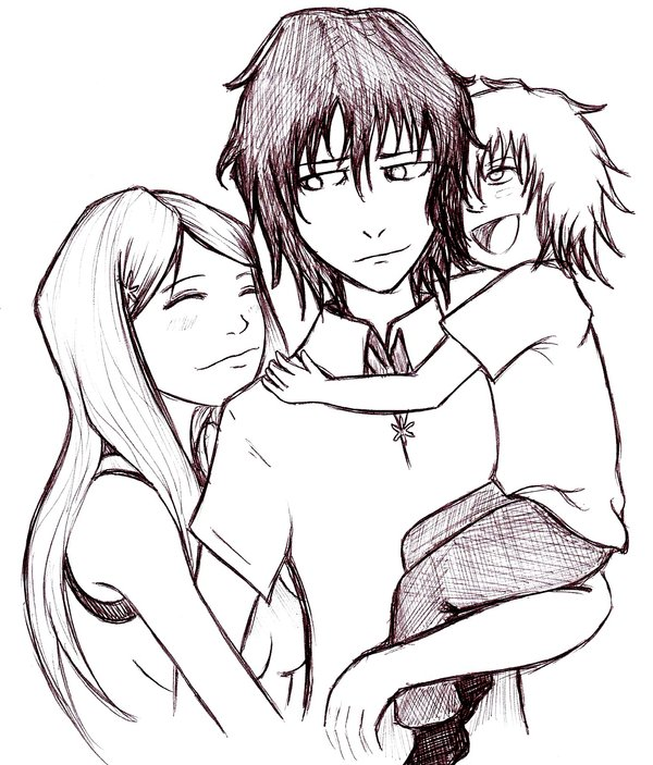 600x703 Ulquihime Family Hug By Chibi Twilight