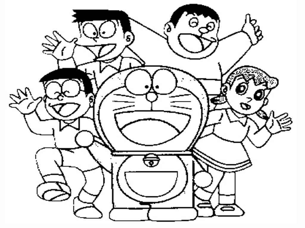 1024x768 Doraemon And Friends And Family Photos For Drawing Easy Doraemon