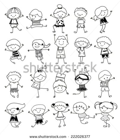 403x470 Group Of Kids,drawing Sketch
