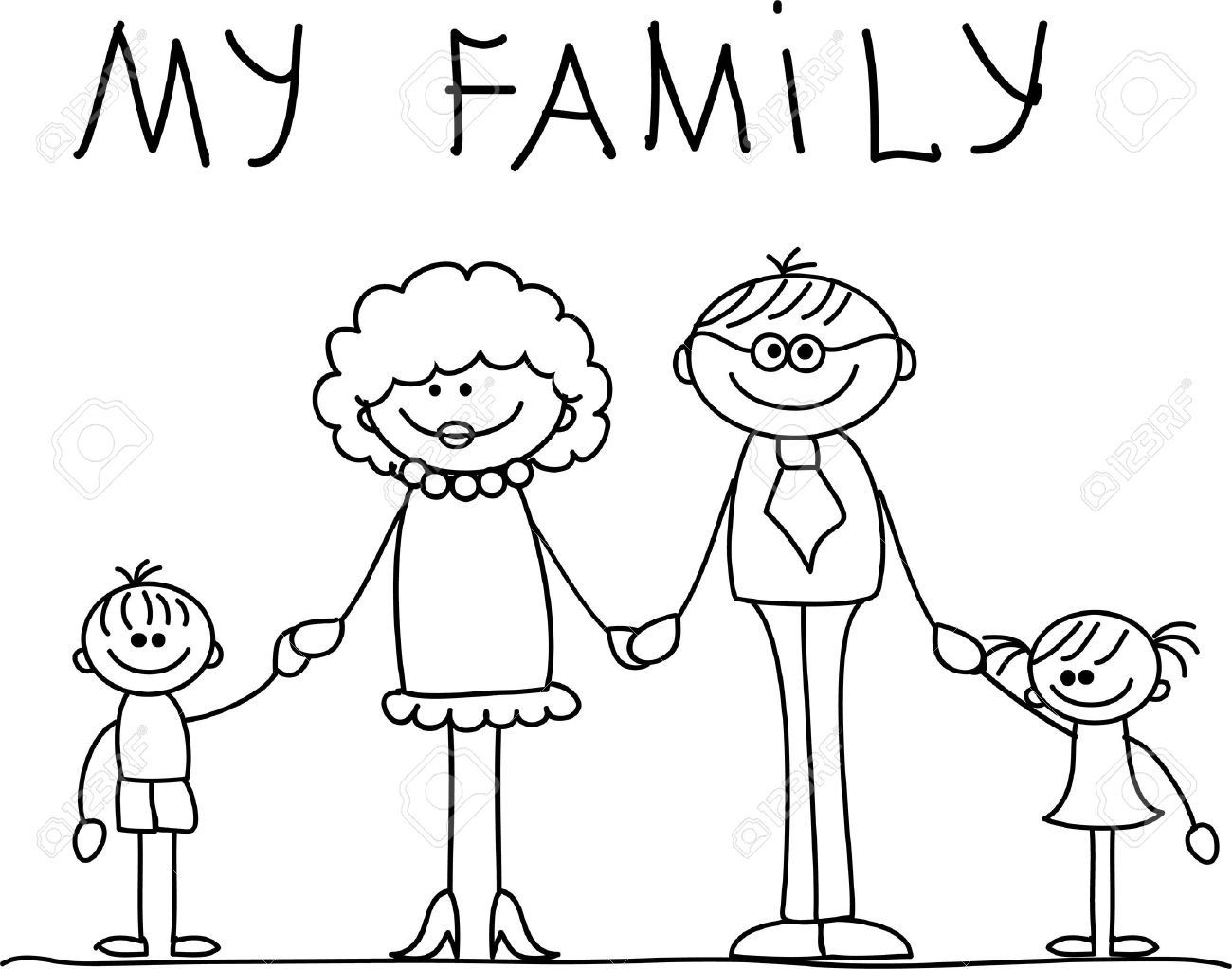 1300x1023 Happy Family Holding Hands And Smiling Royalty Free Cliparts