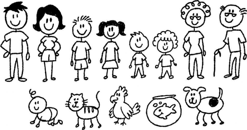 1024x538 My Cartoon Family Drawing Share On Facebook