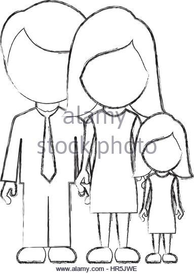 383x540 Nuclear Family Cartoon Stock Photos Amp Nuclear Family Cartoon Stock