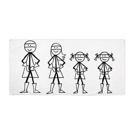 460x460 Super Family 2 Girls Beach Towel By Megashark