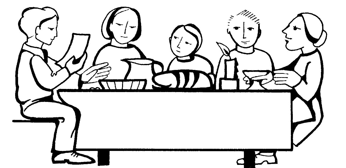 1437x699 Family Dinner Table Clipart