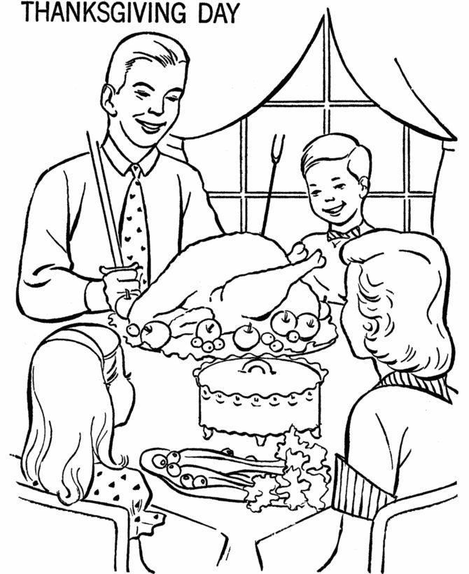 670x820 Bluebonkers Com Images Drawings On Thanksgiving Dinner Coloring