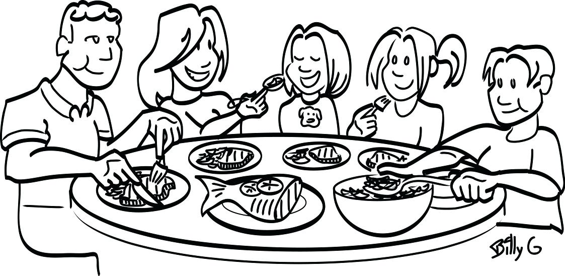 1123x548 Clean Dinner Table Clipart