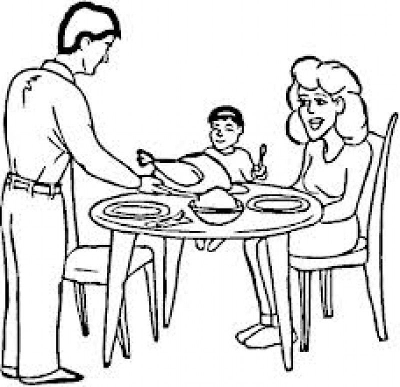 800x775 Coloring Pages Of A Family Eating