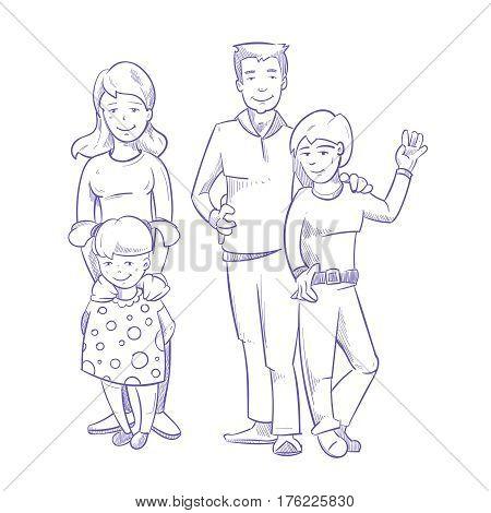 450x470 Happy Family Young Children Hand Vector Amp Photo Bigstock