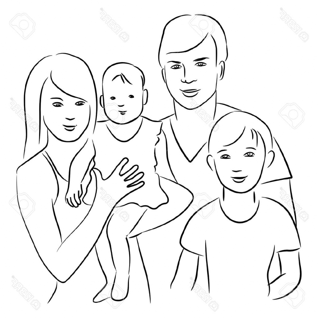 1024x1024 Pictures Drawings Of A Family,