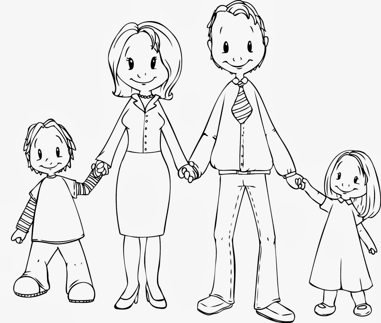 1600x1357 Simple Drawing Of Family Simple English Speaking Topics