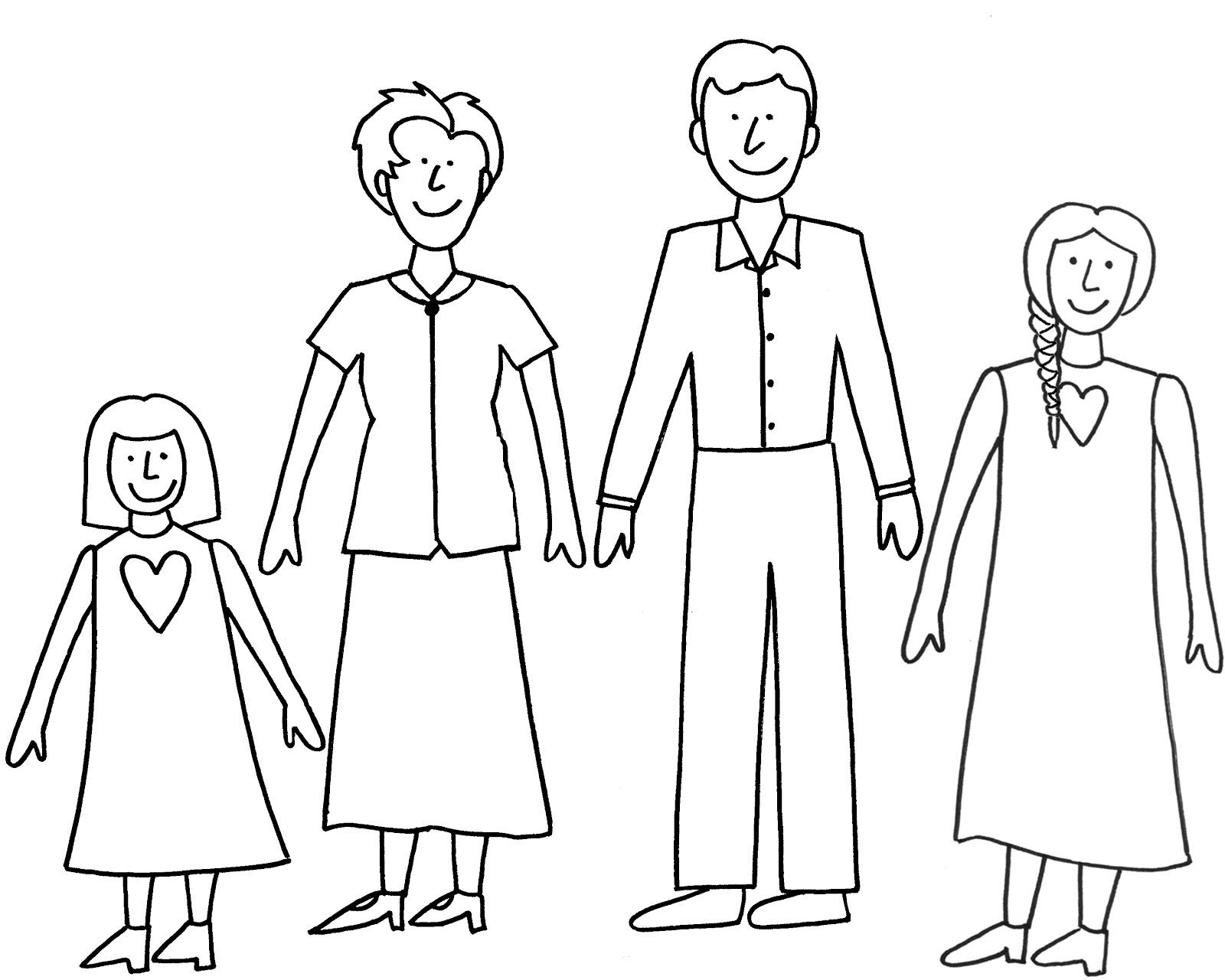 1600x1280 Simple Drawing Of Family The Sketchbook Challenge Use Your Gifts