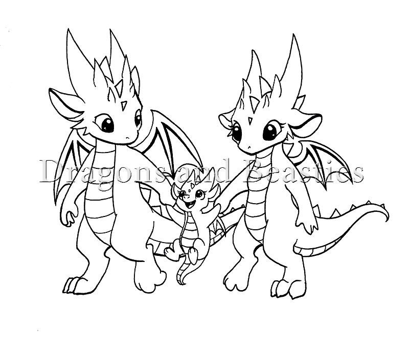 800x682 Inktober Little Dragon Family By Dragonsandbeasties