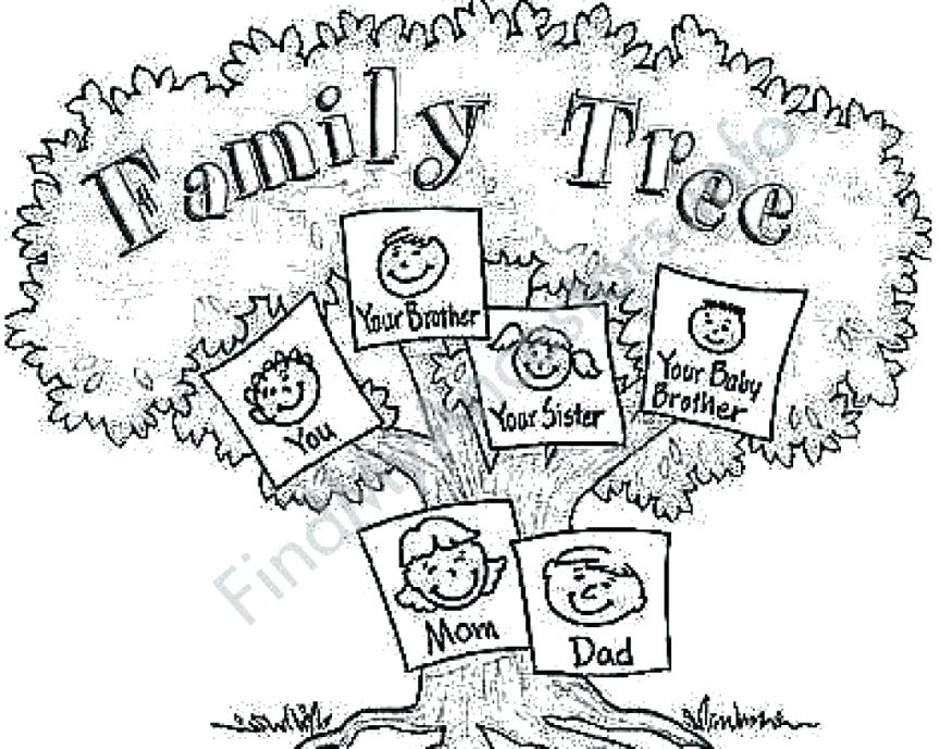 863x689 Family Tree Coloring Page Coloring Pages Free Family Tree Coloring