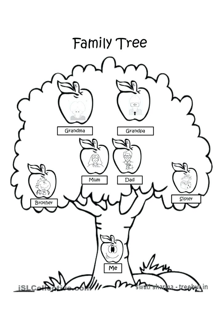 724x1024 Family Tree Coloring Pages Printable In Beatiful Draw Paint Free