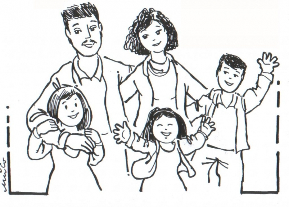 960x687 Get This Preschool Family Coloring Pages To Print Nob6i !