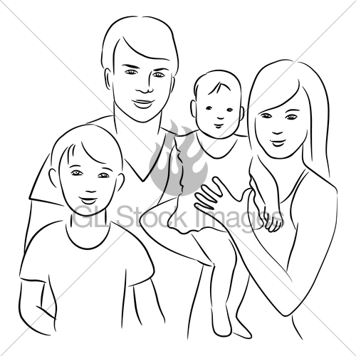 500x500 Family. Gl Stock Images