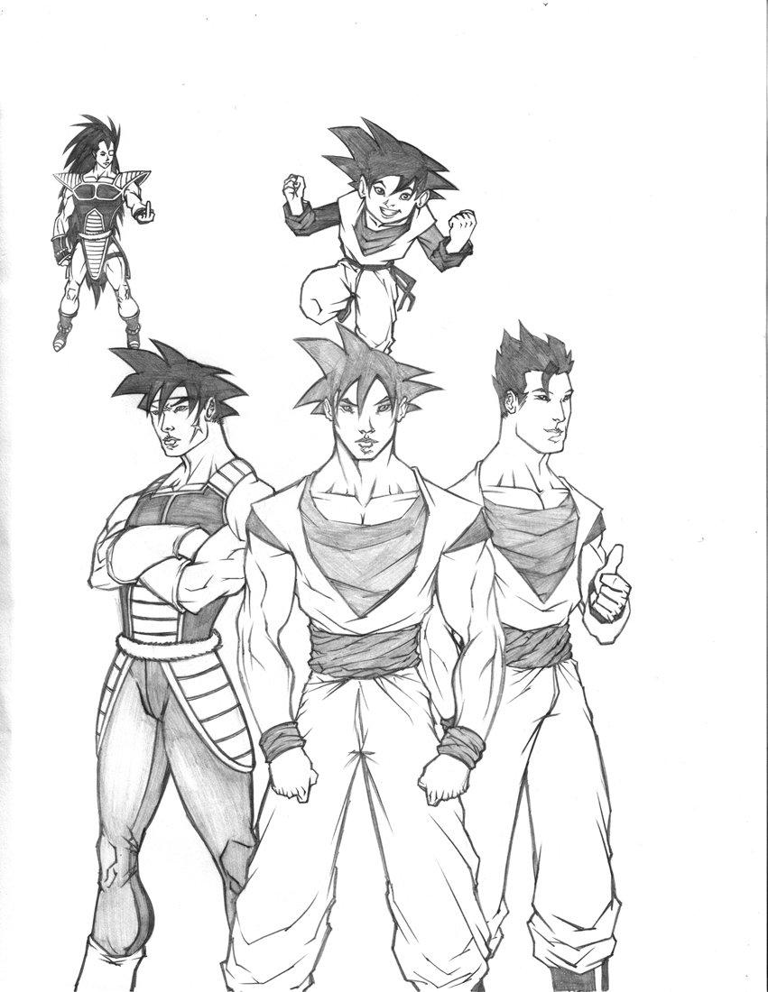 851x1100 Goku's Family By Saburokun