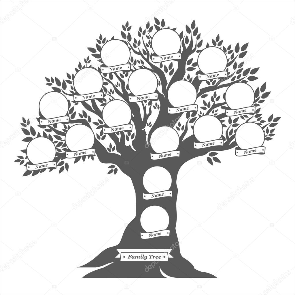 1024x1024 Hand Drawn Oak Family Tree Stock Vector Galastudio