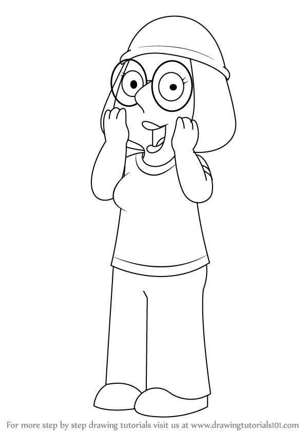 598x844 Learn How To Draw Meg Griffin From Family Guy (Family Guy) Step By