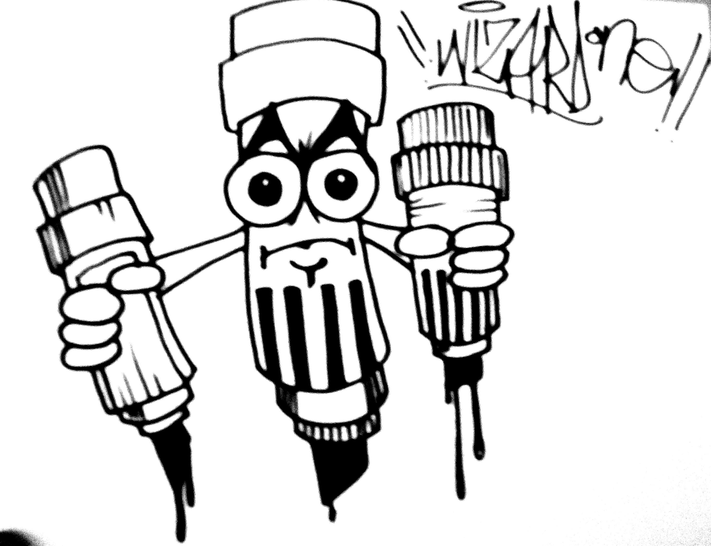 2937x2257 Drawings Of Family In Graffiti Drawing A Graffiti Marker Character