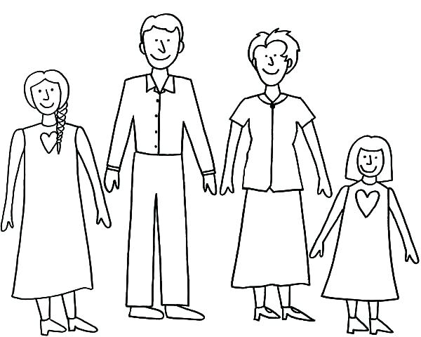 600x480 Excellent Family Coloring Page Best
