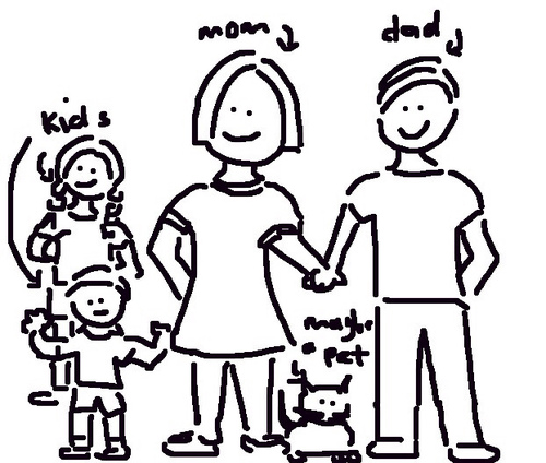 500x424 Extended Family Drawing Clipart Panda