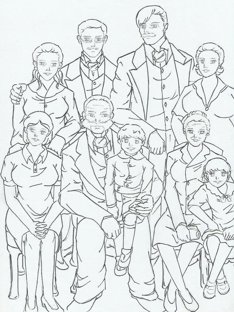 774x1032 Family Sketch By Siessta