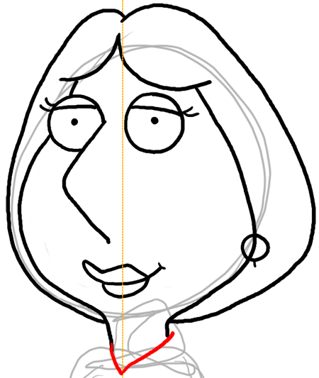 450x533 How To Draw Lois Griffin From Family Guy With Easy Step By Step