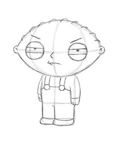 236x305 Step Finished Stewie1 How To Draw Stewie From Family Guy Step By