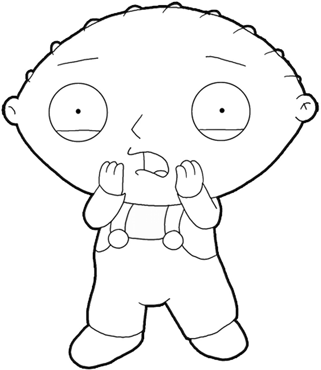 1041x1200 Family Guy Coloring Pages