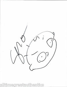 232x300 Seth Macfarlane Hand Drawn Signed Family Guy Stewie Griffin Sketch