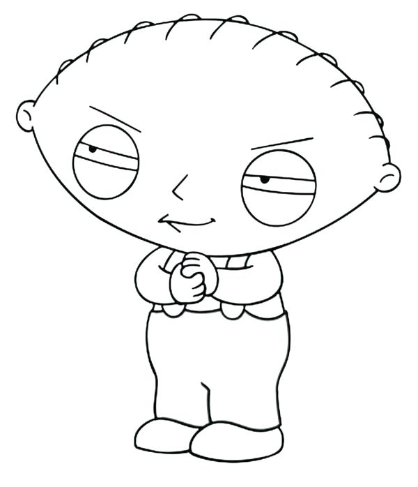 600x698 Stewie Coloring Pages Medium Size Of Print Family Coloring Pages