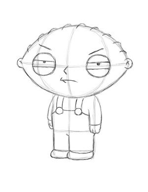 300x388 Draw Stewie Griffin Step 18 Family Guy Stewie