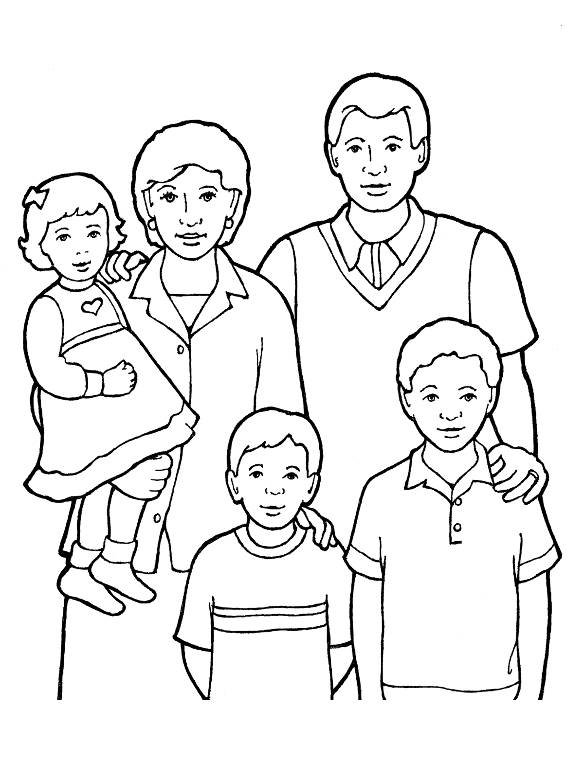 1200x1600 Family Of Five Standing Together