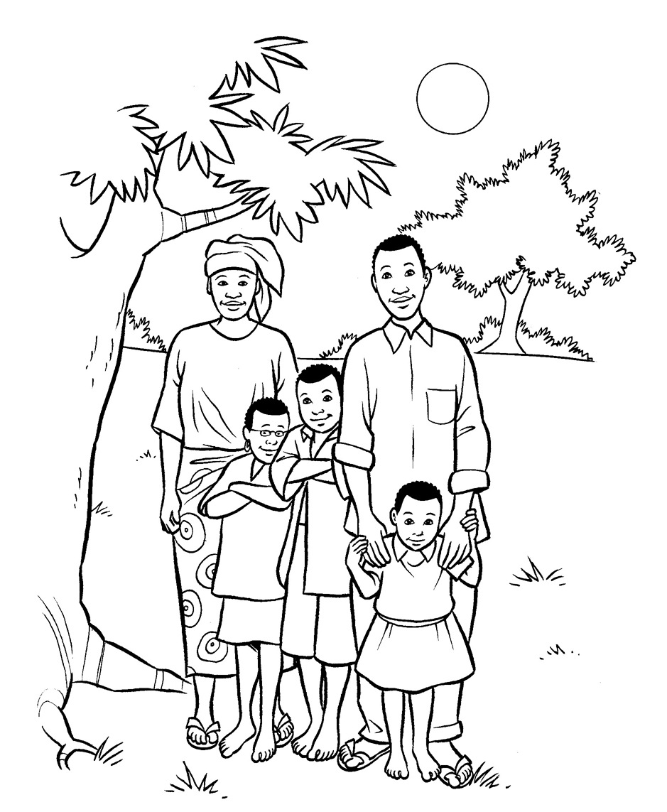 939x1143 My Family Drawing Page