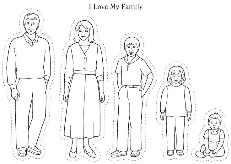 736x522 Coloring Pages Of Family Members Coloring Page For Kids