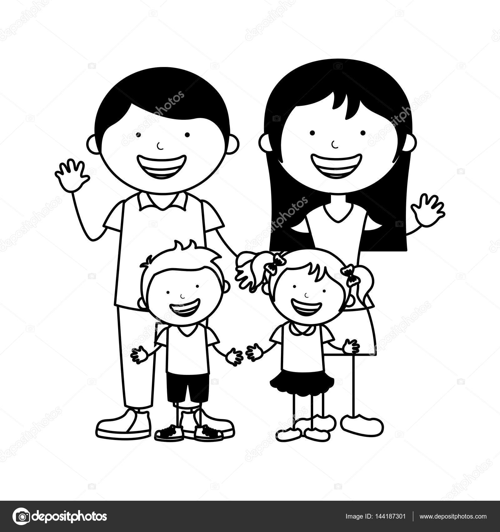 1600x1700 Happy Family Members Icon Stock Vector Yupiramos