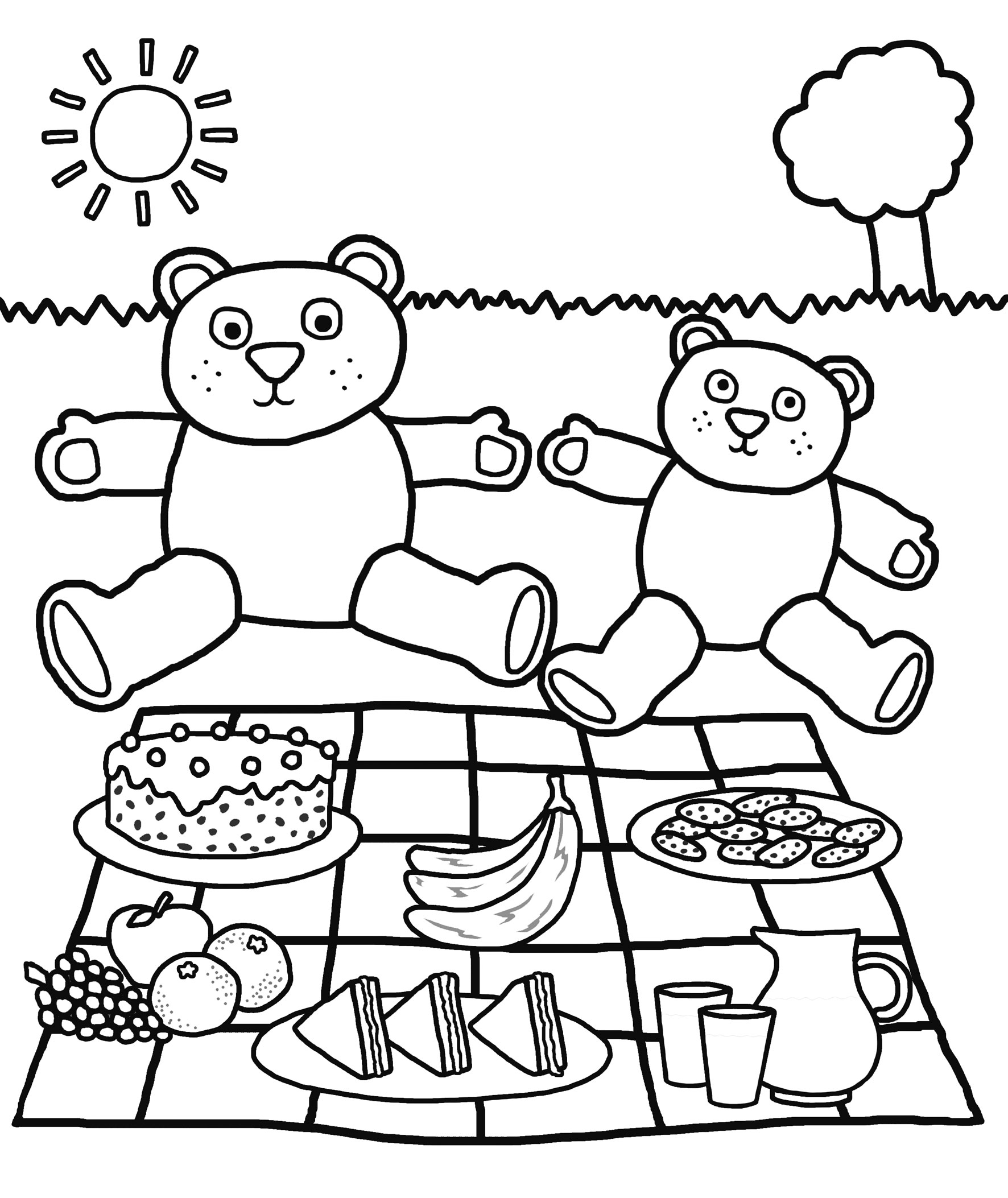 1772x2106 Drawing Of School Picnic How To Draw Scenery Of Family Picnic