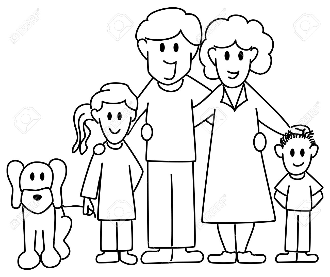 1300x1091 Vector Illustration Of A Family Consisting Father Mother