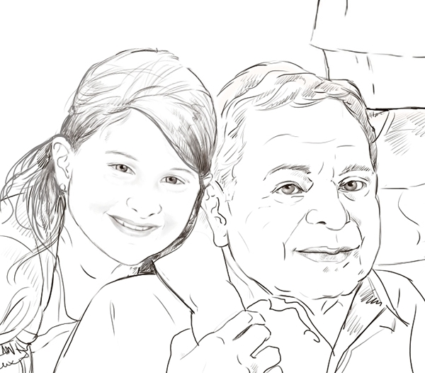 600x526 Family Portrait Line Drawing Compostion On Behance