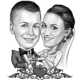 270x270 Wedding Gifts For Bride And Groom Couple Caricatures And Family