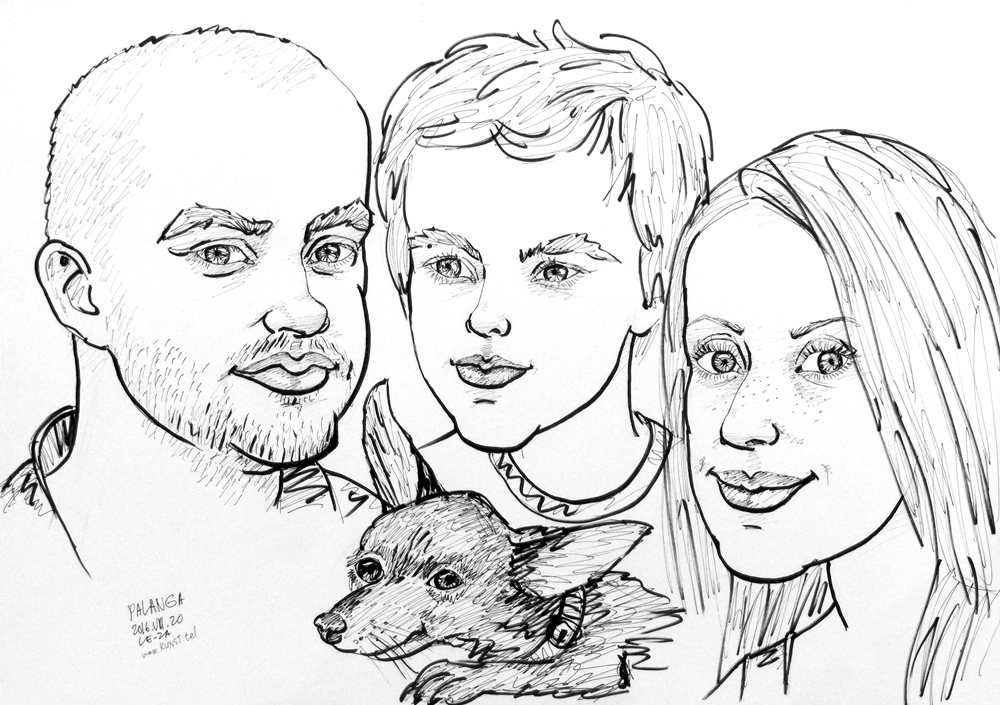 1000x705 Caricatures Of Dogs Portrait Artist