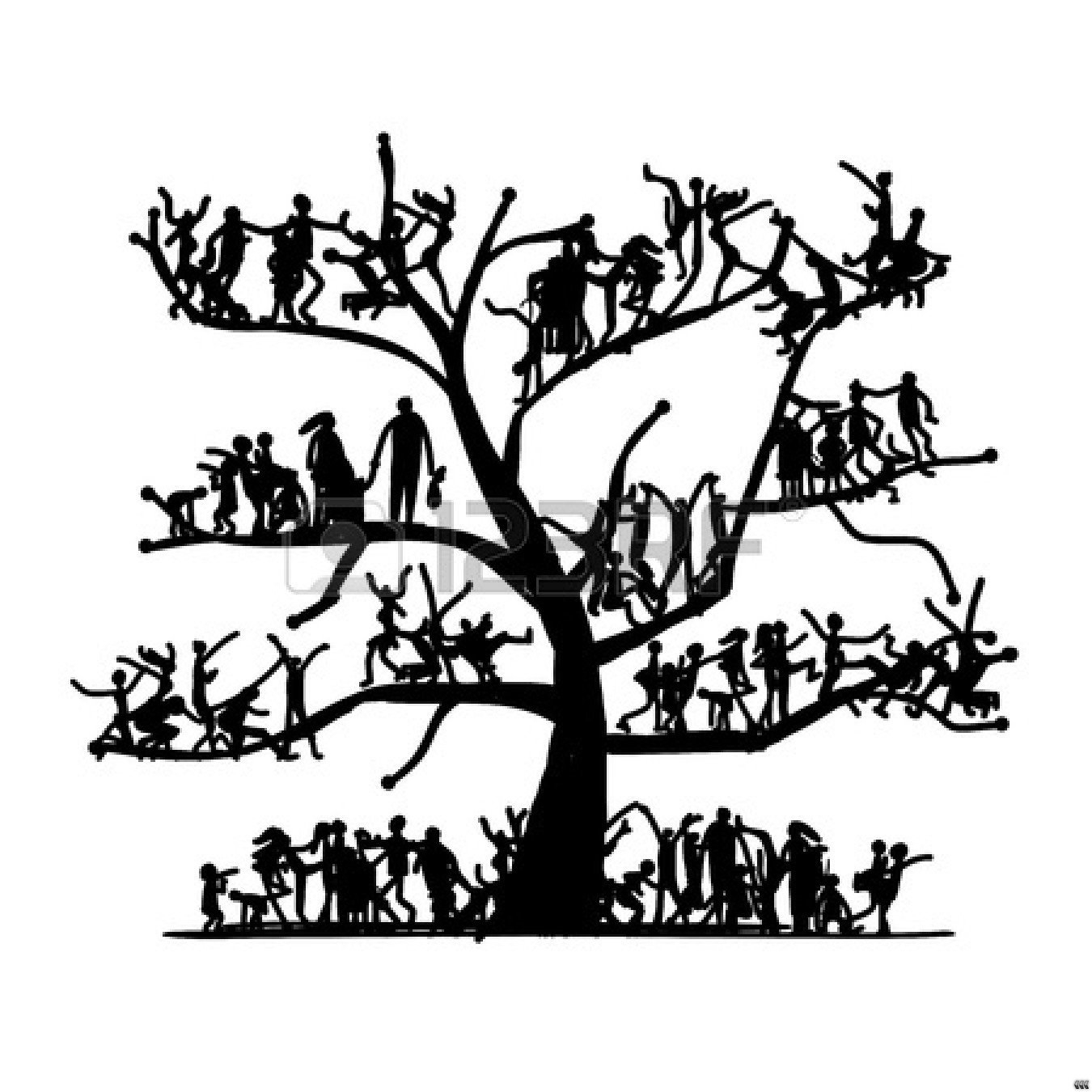 1350x1350 Awesome Of Family Tree Clipart Black And White