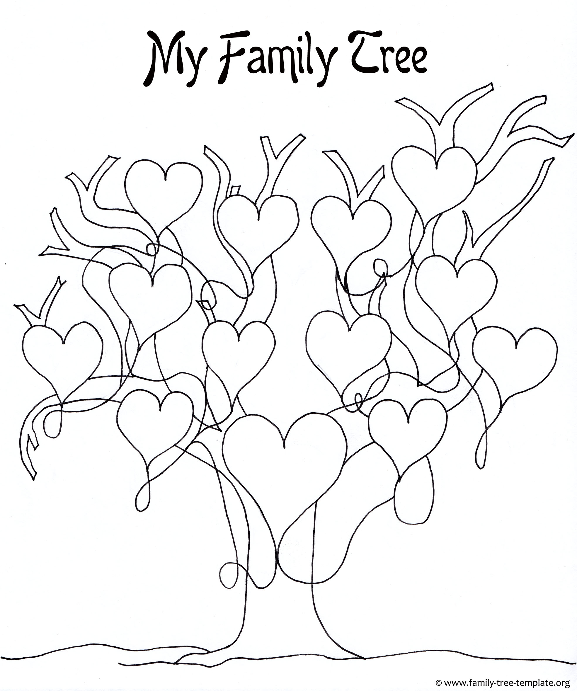 Family Tree Drawing Easy At Getdrawings Com Free For Personal Use